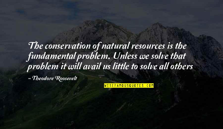 Theodore Roosevelt Natural Resources Quotes By Theodore Roosevelt: The conservation of natural resources is the fundamental