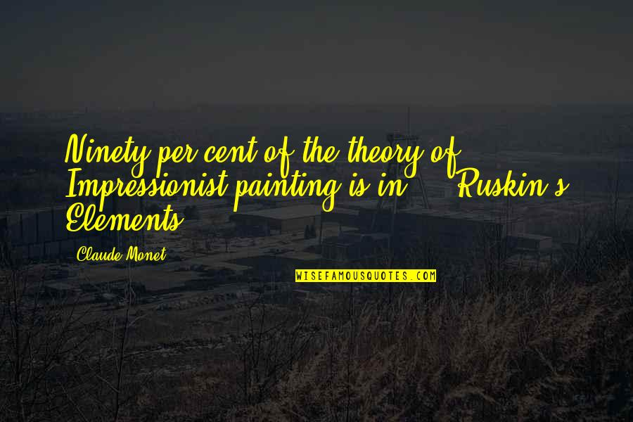 Theory's Quotes By Claude Monet: Ninety per cent of the theory of Impressionist
