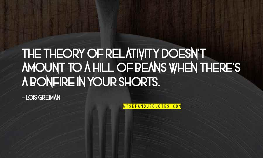 Theory's Quotes By Lois Greiman: The theory of relativity doesn't amount to a