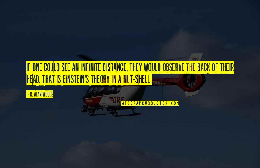 Theory's Quotes By R. Alan Woods: If one could see an infinite distance, they