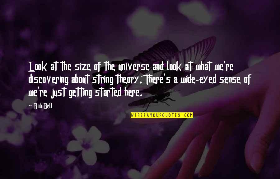 Theory's Quotes By Rob Bell: Look at the size of the universe and
