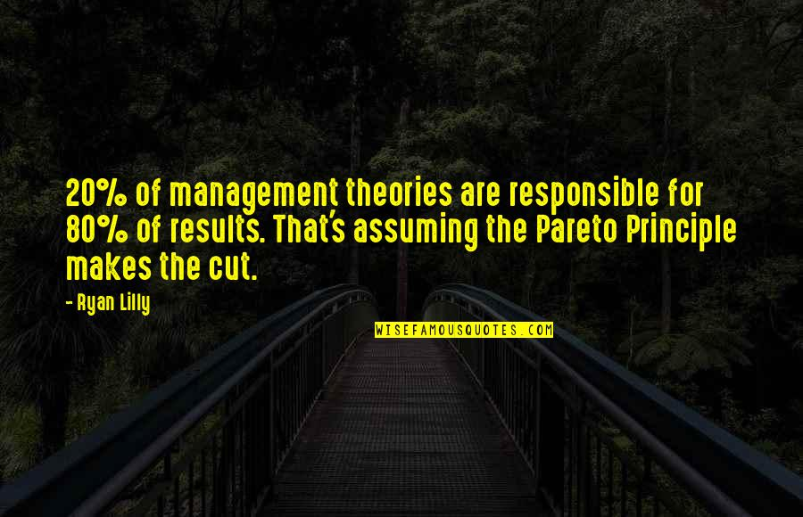 Theory's Quotes By Ryan Lilly: 20% of management theories are responsible for 80%