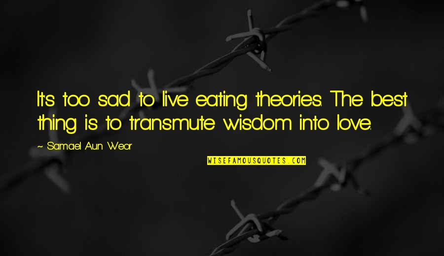 Theory's Quotes By Samael Aun Weor: It's too sad to live eating theories. The