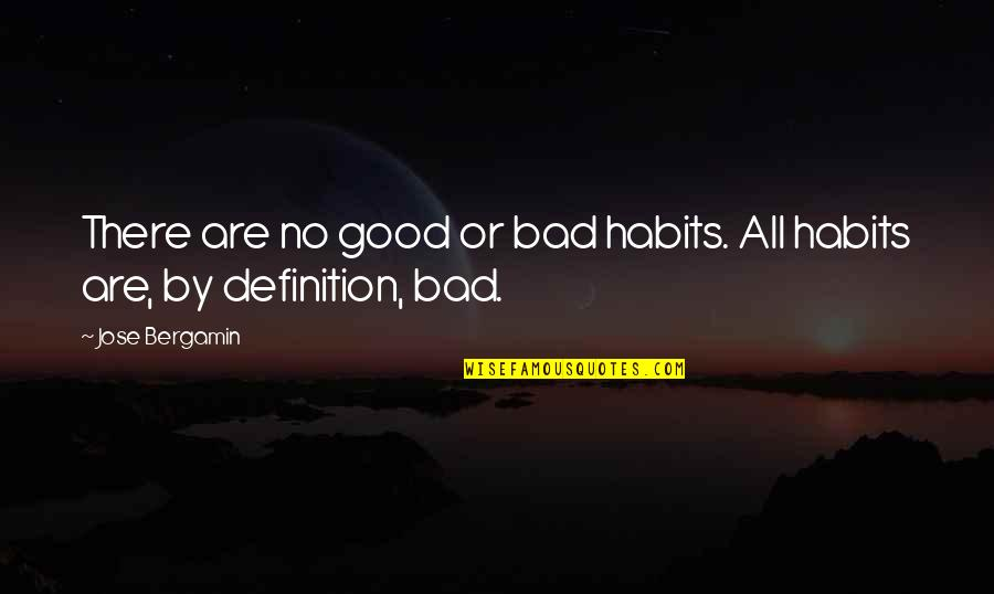 There Are Quotes By Jose Bergamin: There are no good or bad habits. All