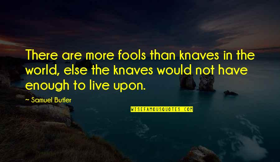 There Are Quotes By Samuel Butler: There are more fools than knaves in the
