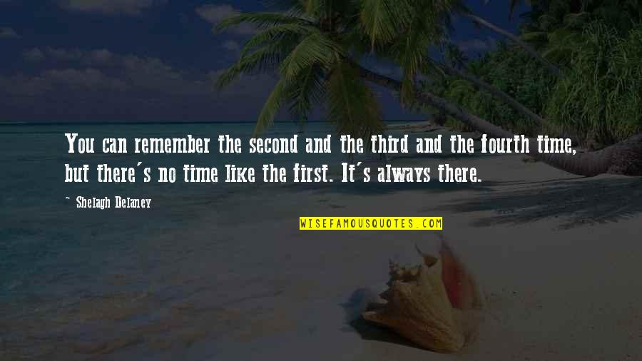 There's Always A First Time Quotes By Shelagh Delaney: You can remember the second and the third