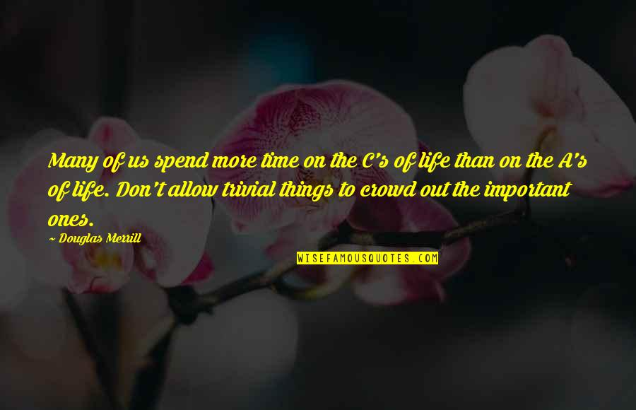 There's More Important Things In Life Quotes By Douglas Merrill: Many of us spend more time on the