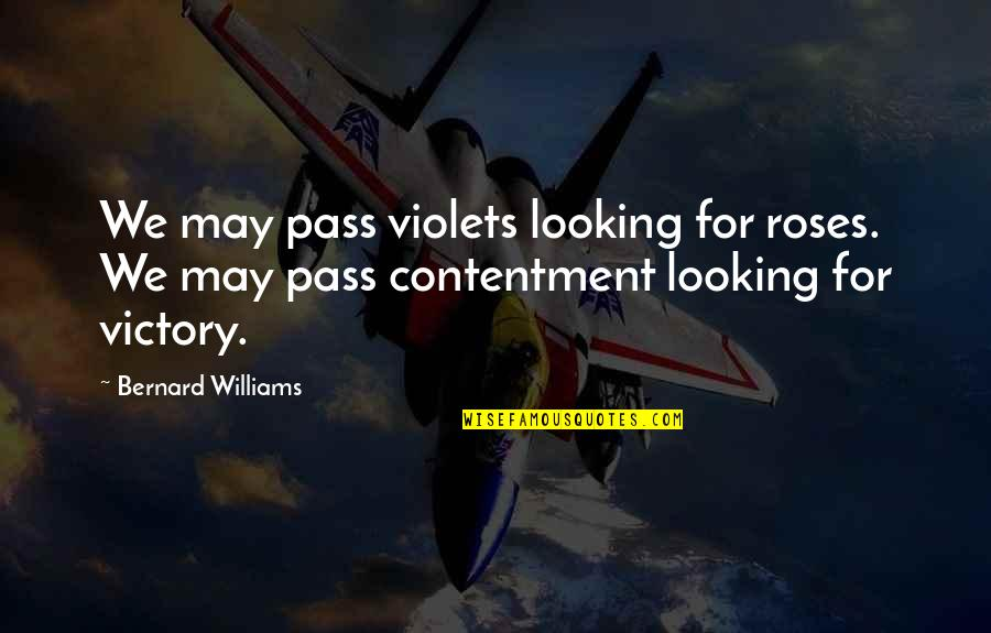 Theroommate Quotes By Bernard Williams: We may pass violets looking for roses. We