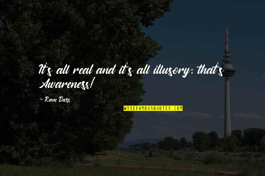 Theroommate Quotes By Ram Dass: It's all real and it's all illusory: that's