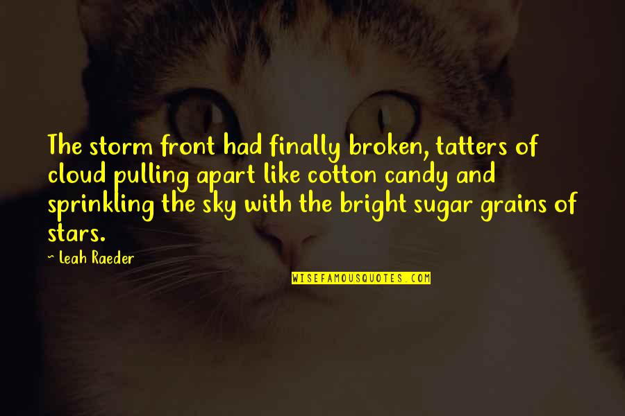These Broken Stars Quotes By Leah Raeder: The storm front had finally broken, tatters of