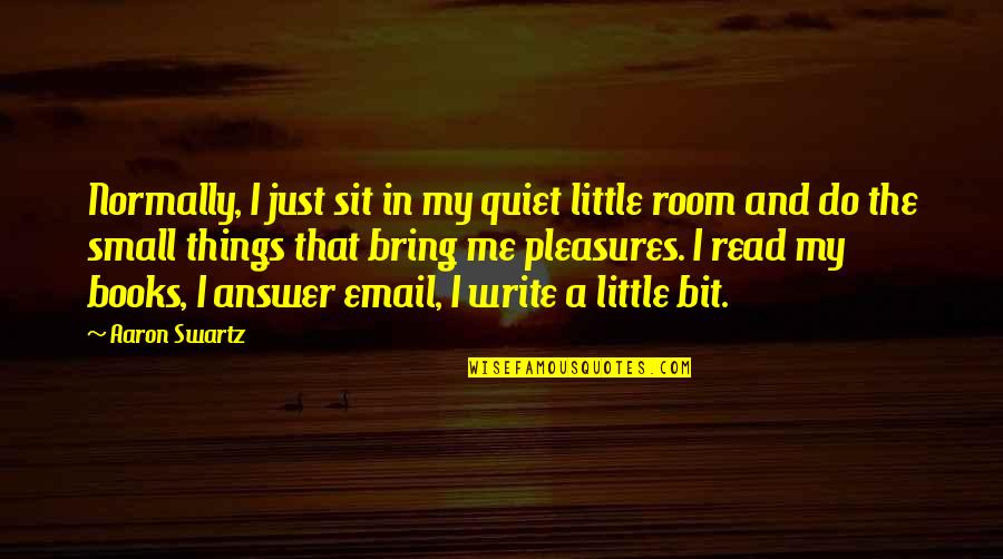 These Small Little Things Quotes By Aaron Swartz: Normally, I just sit in my quiet little