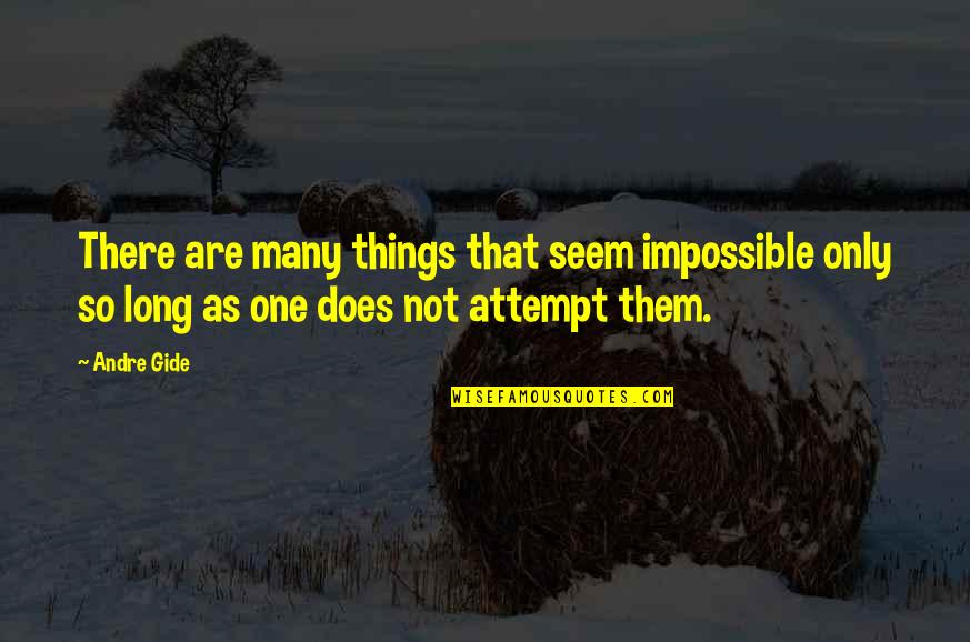 These Small Little Things Quotes By Andre Gide: There are many things that seem impossible only