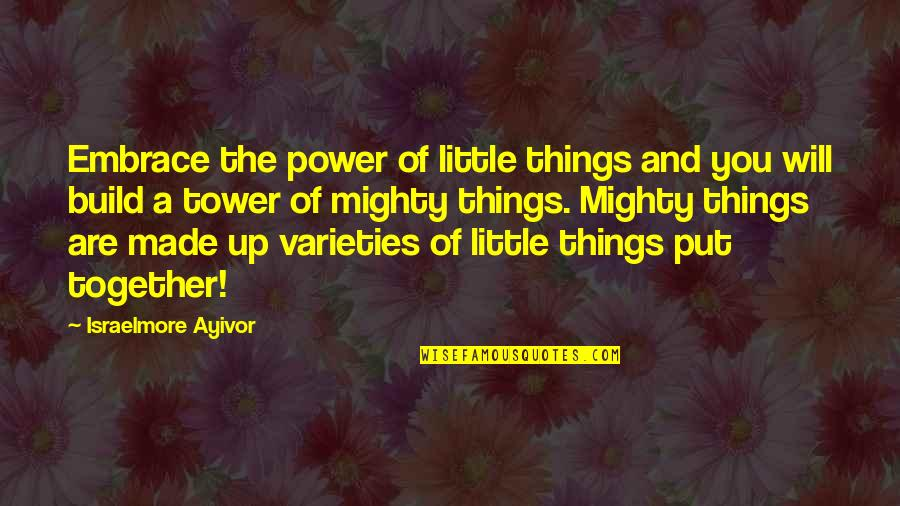 These Small Little Things Quotes By Israelmore Ayivor: Embrace the power of little things and you