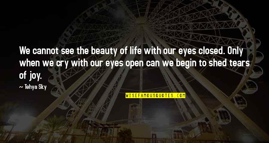 These Tears I Cry Quotes By Tehya Sky: We cannot see the beauty of life with