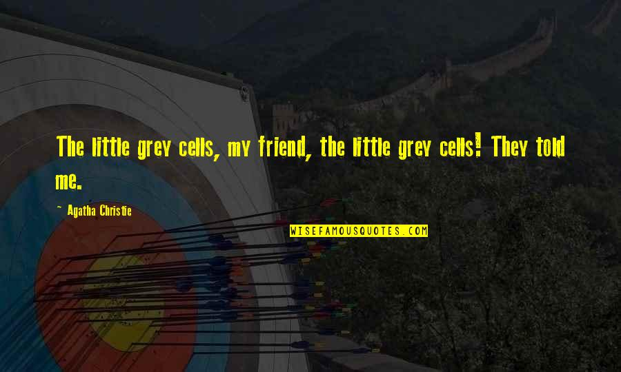 They Told Me Quotes By Agatha Christie: The little grey cells, my friend, the little