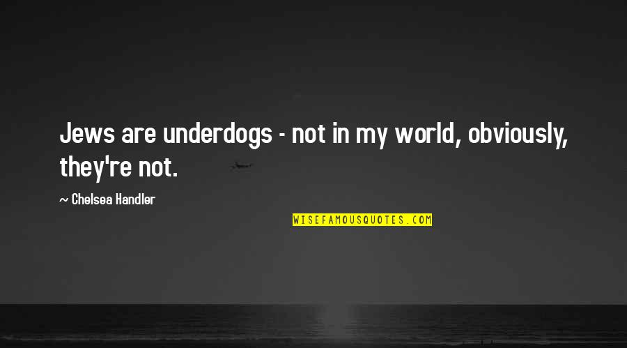 They'are Quotes By Chelsea Handler: Jews are underdogs - not in my world,