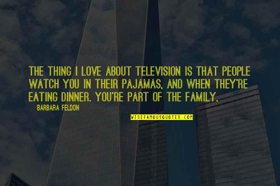 Thing I Love About You Quotes By Barbara Feldon: The thing I love about television is that