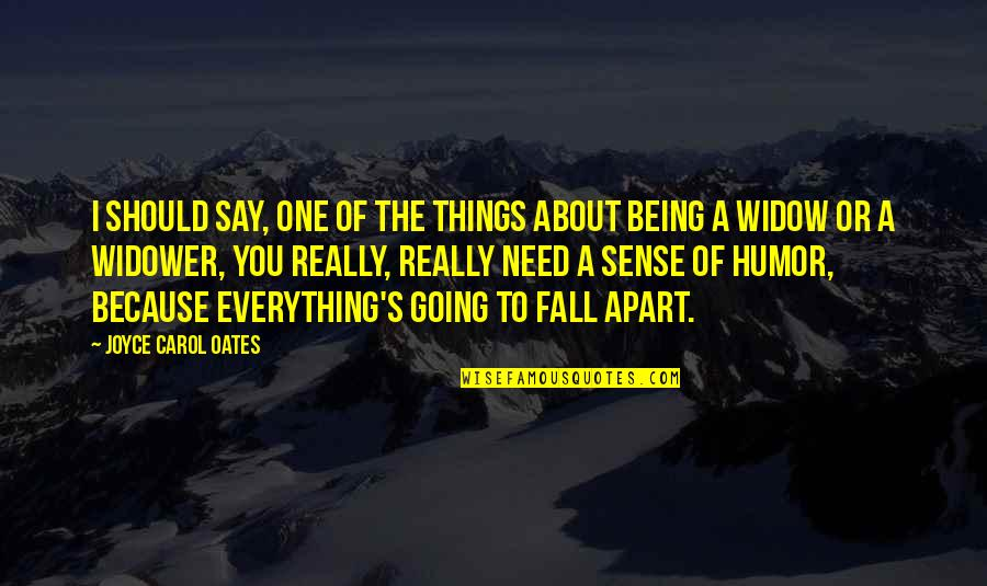 Things Being Okay Quotes By Joyce Carol Oates: I should say, one of the things about