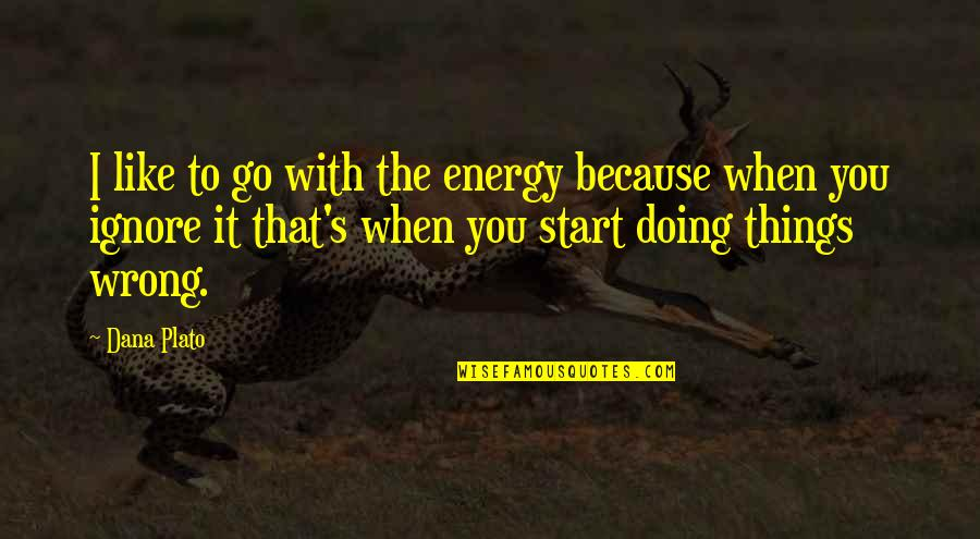 Things Go Wrong Quotes By Dana Plato: I like to go with the energy because