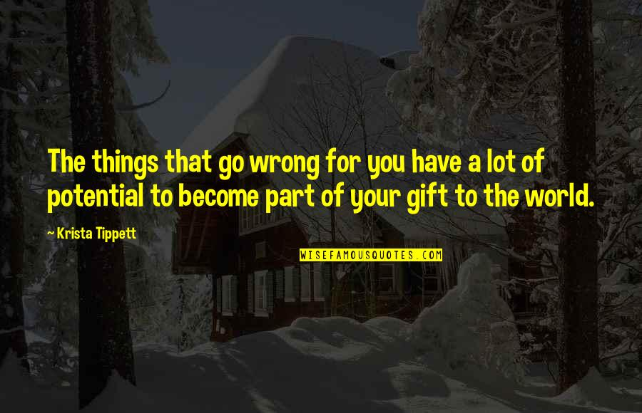 Things Go Wrong Quotes By Krista Tippett: The things that go wrong for you have