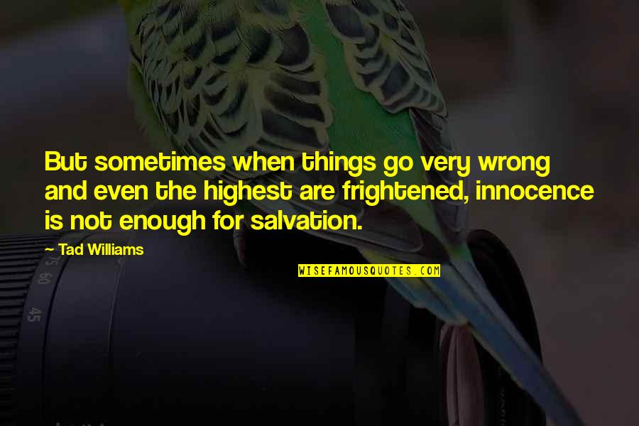 Things Go Wrong Quotes By Tad Williams: But sometimes when things go very wrong and