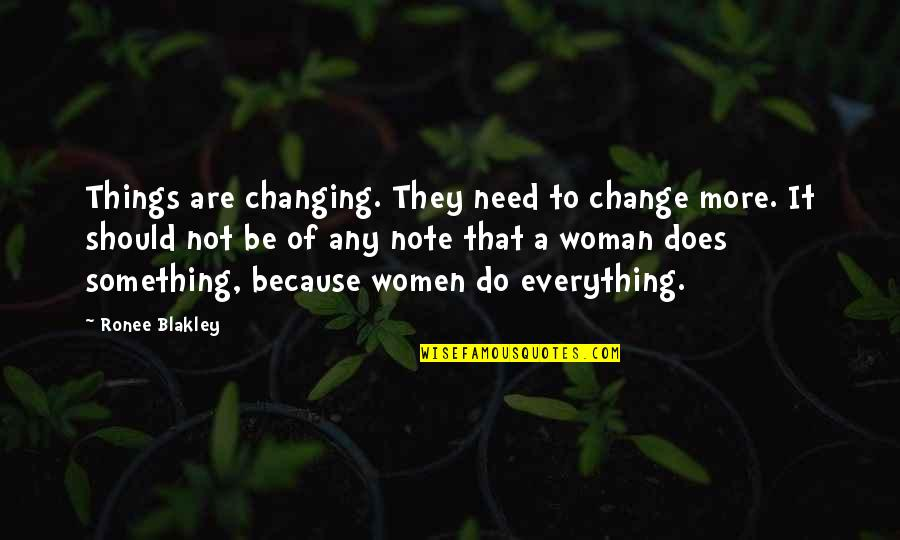 Things Not Changing Quotes By Ronee Blakley: Things are changing. They need to change more.