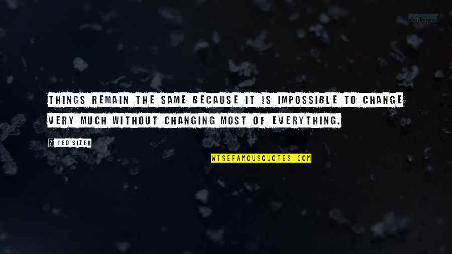 Things Not Changing Quotes By Ted Sizer: Things remain the same because it is impossible