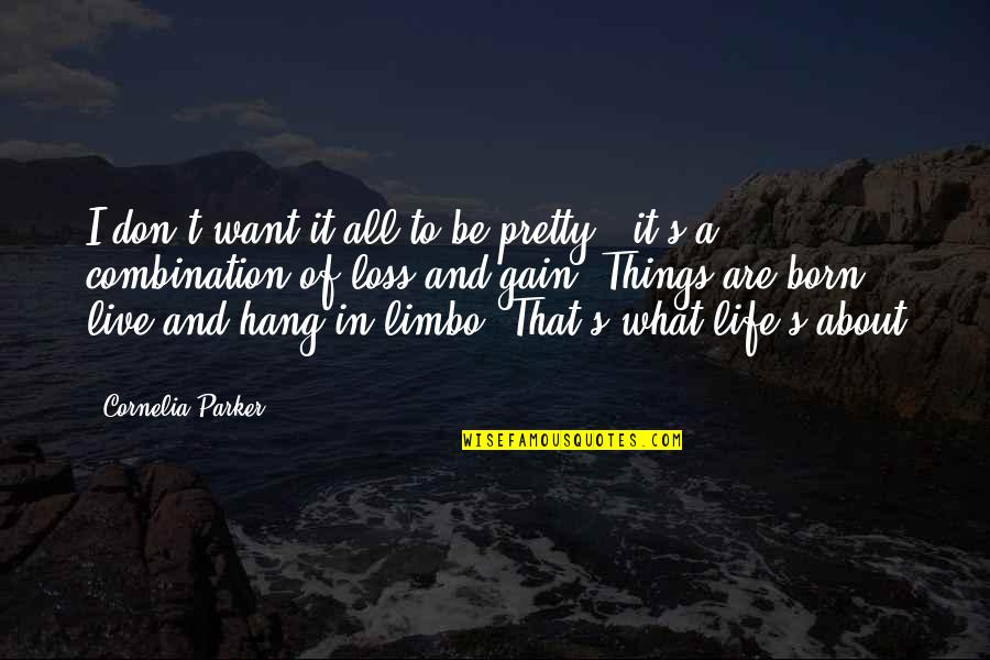 Things Of Beauty Quotes By Cornelia Parker: I don't want it all to be pretty