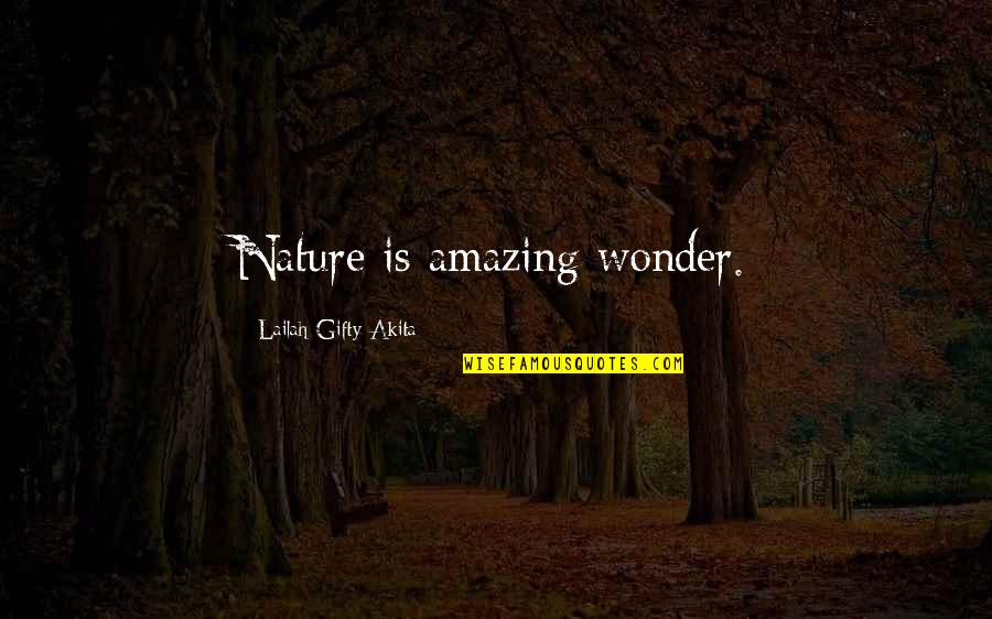 Things Of Beauty Quotes By Lailah Gifty Akita: Nature is amazing wonder.