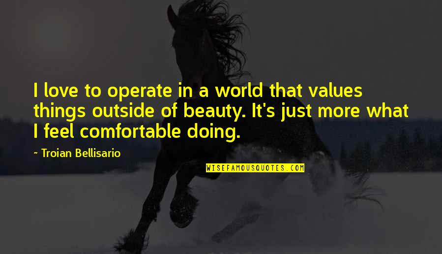 Things Of Beauty Quotes By Troian Bellisario: I love to operate in a world that