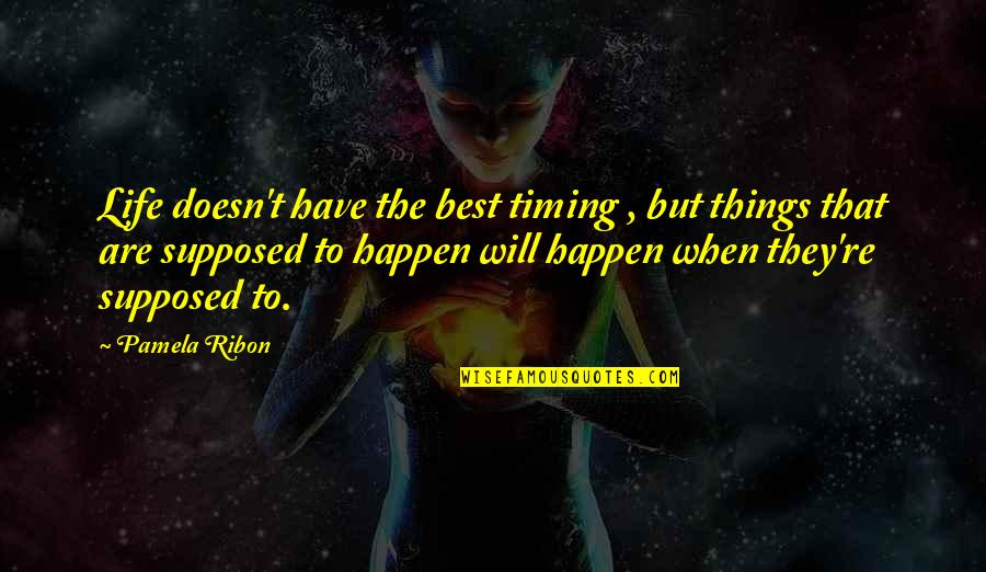 Things Will Happen Quotes By Pamela Ribon: Life doesn't have the best timing , but