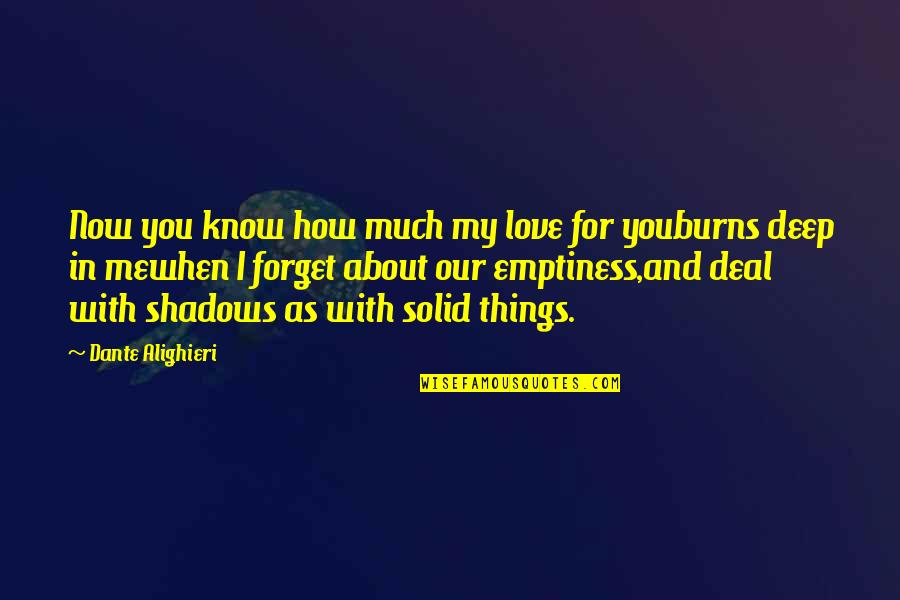 Things You Love Quotes By Dante Alighieri: Now you know how much my love for