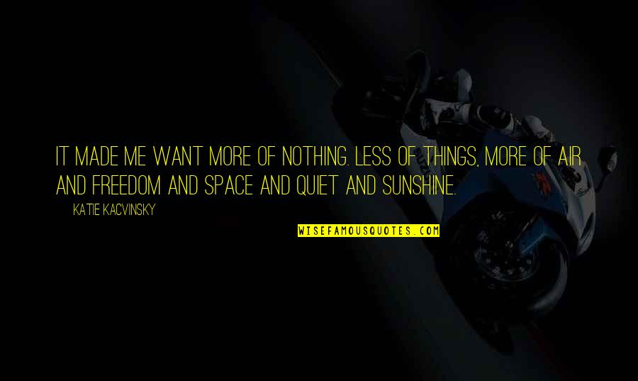 Things You Want Most Quotes By Katie Kacvinsky: It made me want more of nothing. Less