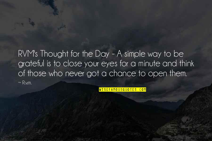 Think A Minute Quotes By R.v.m.: RVM's Thought for the Day - A simple