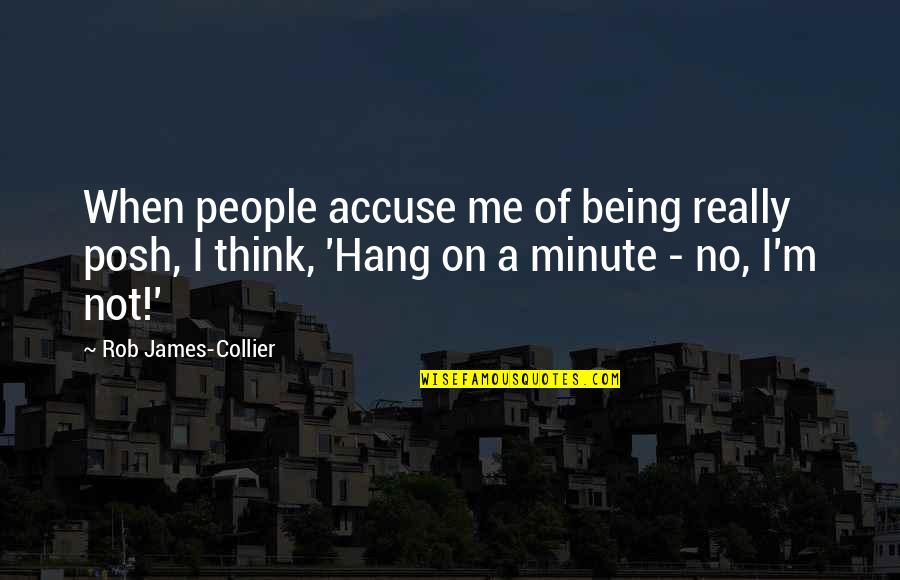 Think A Minute Quotes By Rob James-Collier: When people accuse me of being really posh,