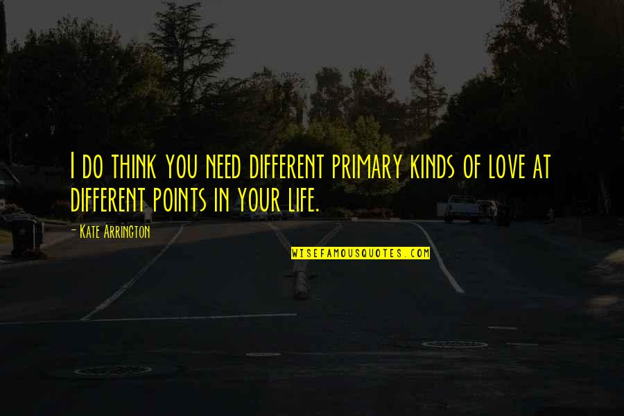 Thinking You're In Love Quotes By Kate Arrington: I do think you need different primary kinds