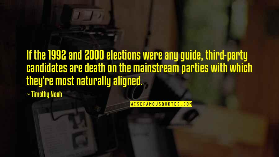 Third Party Quotes By Timothy Noah: If the 1992 and 2000 elections were any