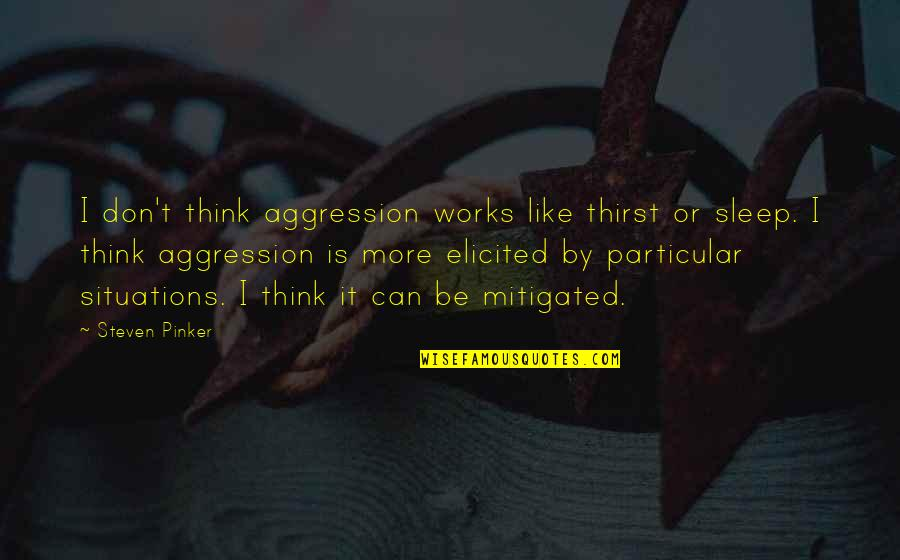 Thirst No.1 Quotes By Steven Pinker: I don't think aggression works like thirst or