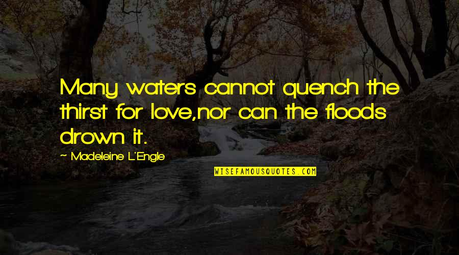 Thirst Quotes By Madeleine L'Engle: Many waters cannot quench the thirst for love,nor
