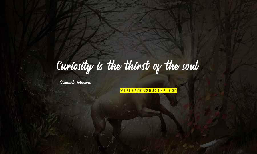 Thirst Quotes By Samuel Johnson: Curiosity is the thirst of the soul.