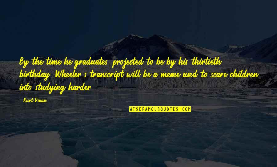 Thirtieth Birthday Quotes By Kurt Dinan: By the time he graduates, projected to be