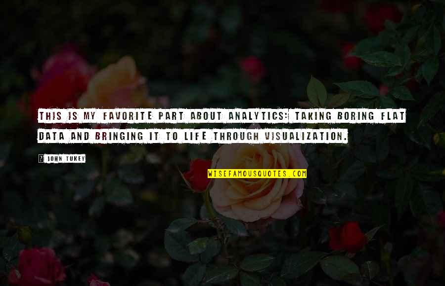 This Is My Life Quotes By John Tukey: This is my favorite part about analytics: Taking