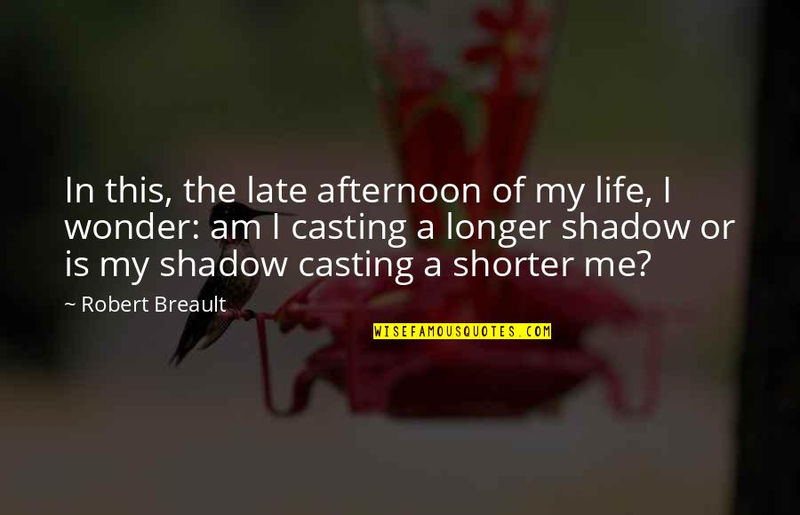 This Is My Life Quotes By Robert Breault: In this, the late afternoon of my life,