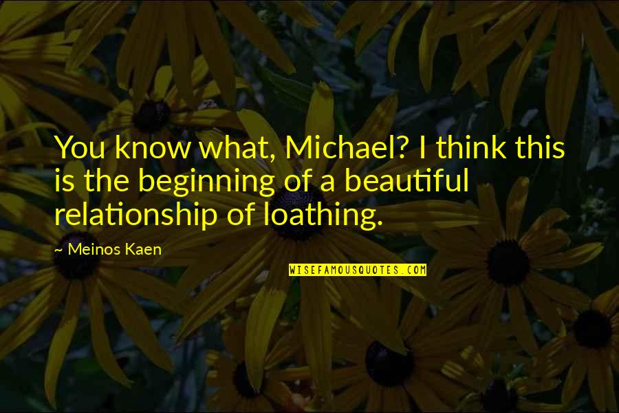 This Is What I Think Of You Quotes By Meinos Kaen: You know what, Michael? I think this is
