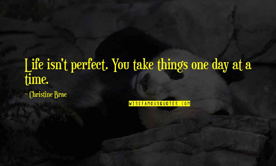 This Perfect Day Quotes By Christine Brae: Life isn't perfect. You take things one day