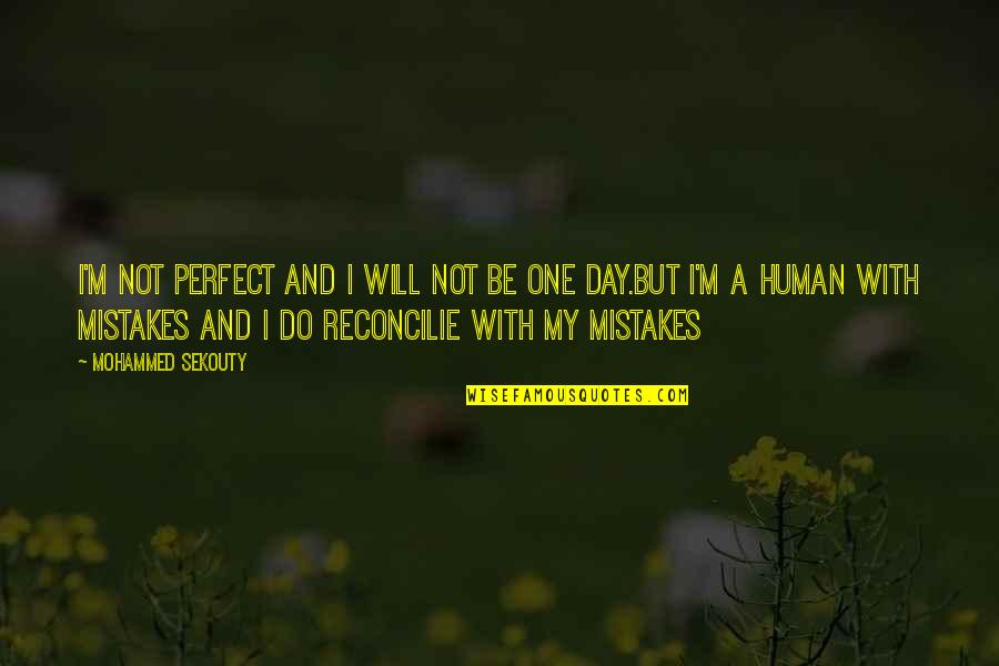 This Perfect Day Quotes By Mohammed Sekouty: I'm not perfect and I will not be