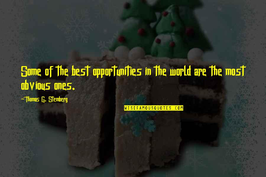 Thomas Stemberg Quotes By Thomas G. Stemberg: Some of the best opportunities in the world