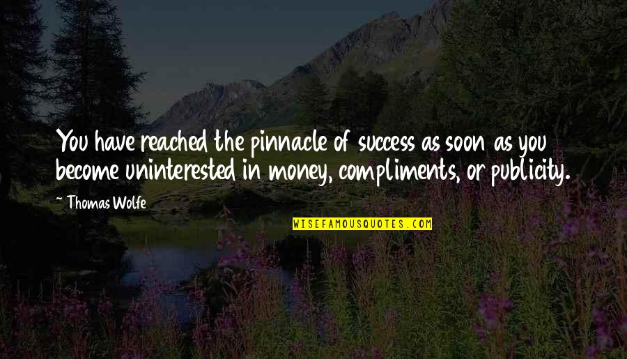 Thomas Wolfe Quotes By Thomas Wolfe: You have reached the pinnacle of success as