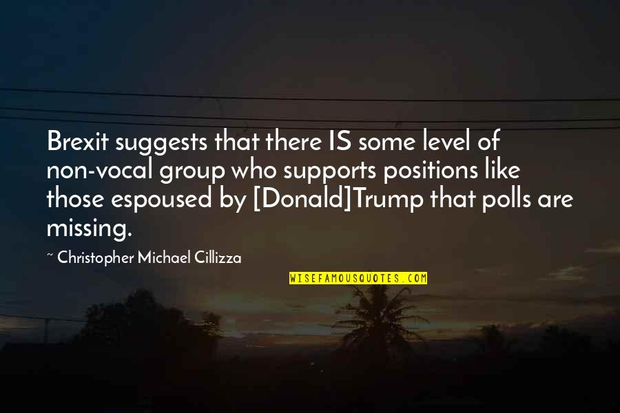 Those Who Support You Quotes By Christopher Michael Cillizza: Brexit suggests that there IS some level of