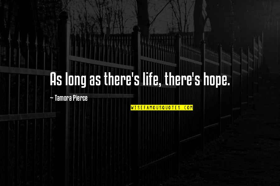 Thought Provoking Life Quotes By Tamora Pierce: As long as there's life, there's hope.